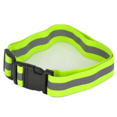 YFY-48 Adjustable Reflective Safety Buckle Waist Belt Band Fluorescent (Green/Grey)