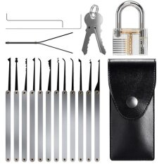 Yika 15pcs Unlocking Lock Pick Set Key Extractor Tool Transparent Practice Padlocks