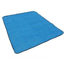(HOT SALE) 180 X 150cm Outdoor Water pattern Three layers  Beach mat Moisture-proof pad Picnic mat Tent (Blue)