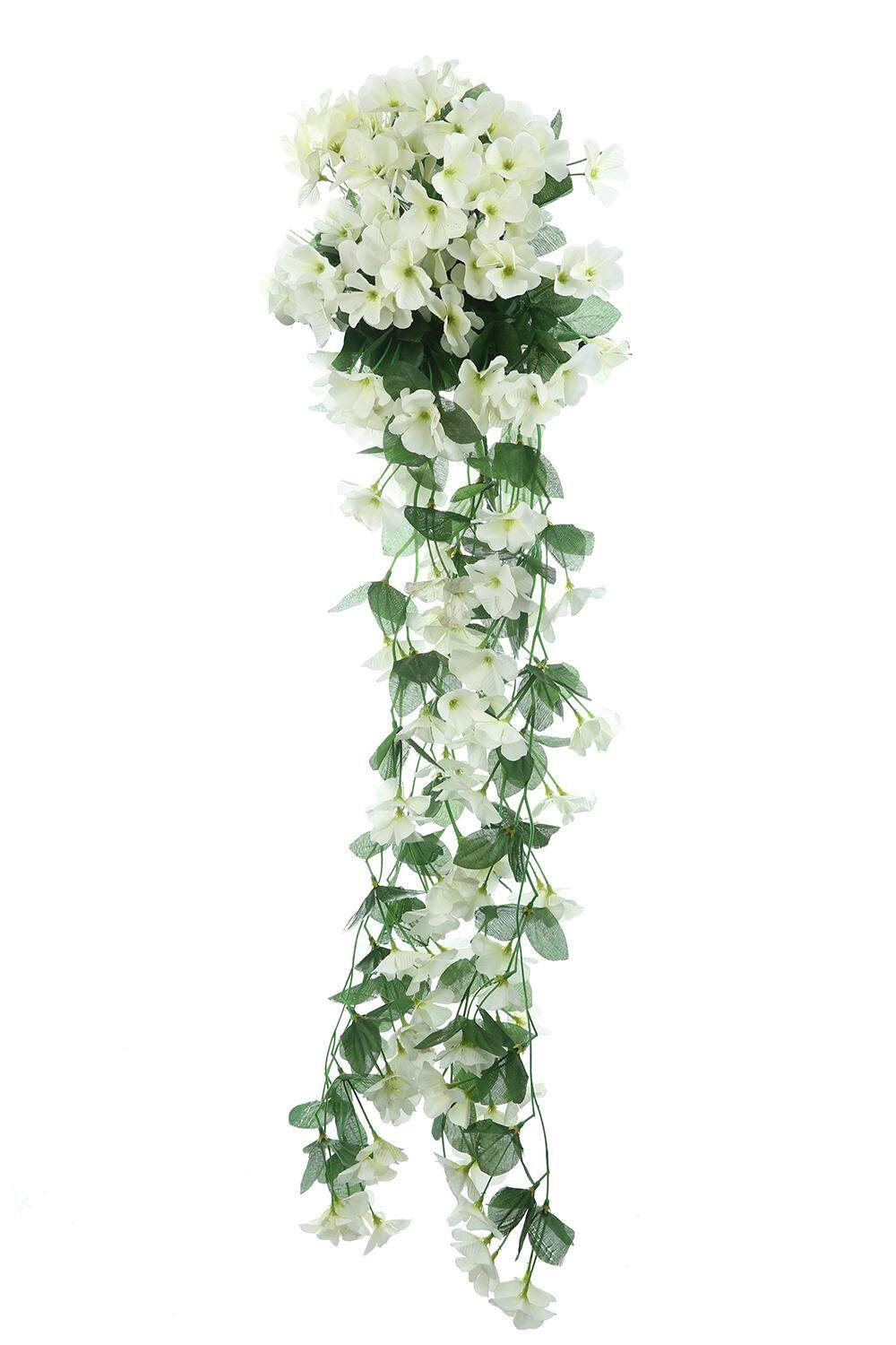 yiokmty Leafy Violet Artificial Silk Flowers for Wedding Home Decor Wall Fake DIY Bouquet,White - intl