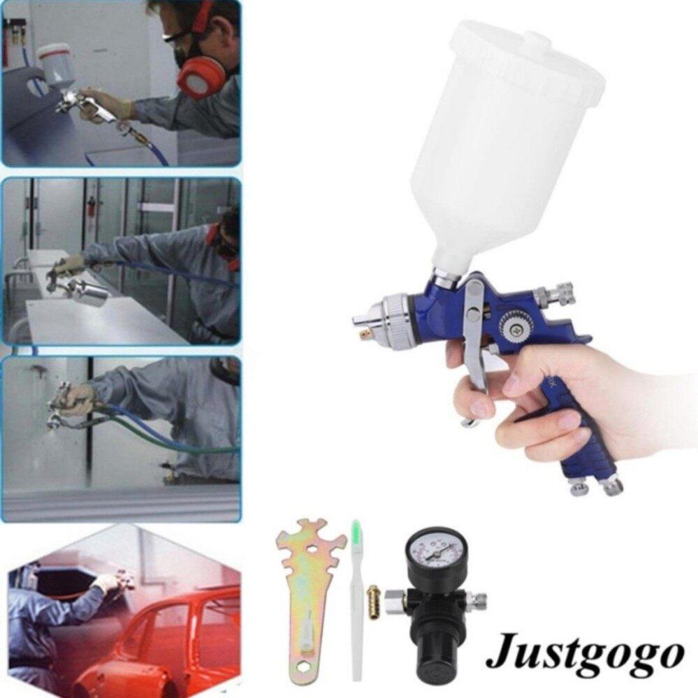 Features Hvlp Gravity Feed Sprayer Tool Car Vehicle Paint 1 4mm Spray Gun Mini Auarita K 350 Justgogo 14mm Nozzle 600cc Air With Regulator