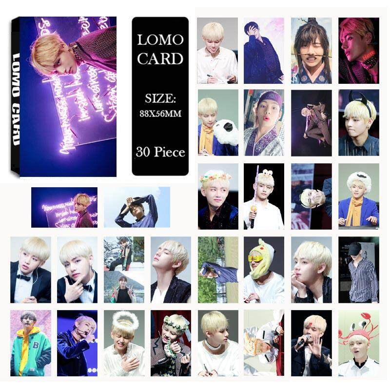 BTS Bangtan Boys WINGS V Photo Album LOMO Cards Self Made Paper Card HD Photocard LK429