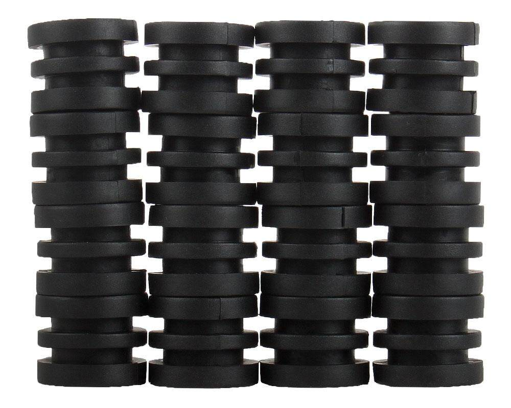 YUESHUNBUHA Anticollision 5/8 Inch Foosball Rods Rubber Bumpers for Foosball Table (Black) - intl