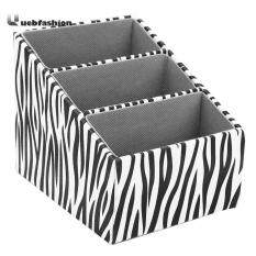 Zebra Striped Leather Remote Control Storage Box Holder
