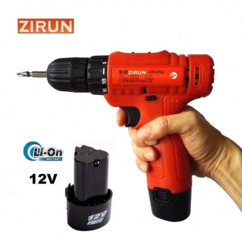 YiLee 12V Cordless Drill Screwdriver LED Light With 2 Batteries - intl  Singapore