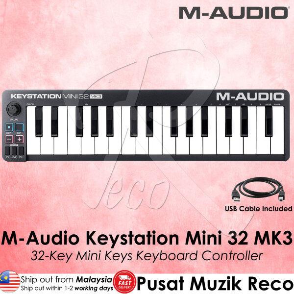 M Audio Keystation Mini 32 MK3 32 Key MINI KEYS USB MIDI Keyboard Controller with Software Pack Malaysia
