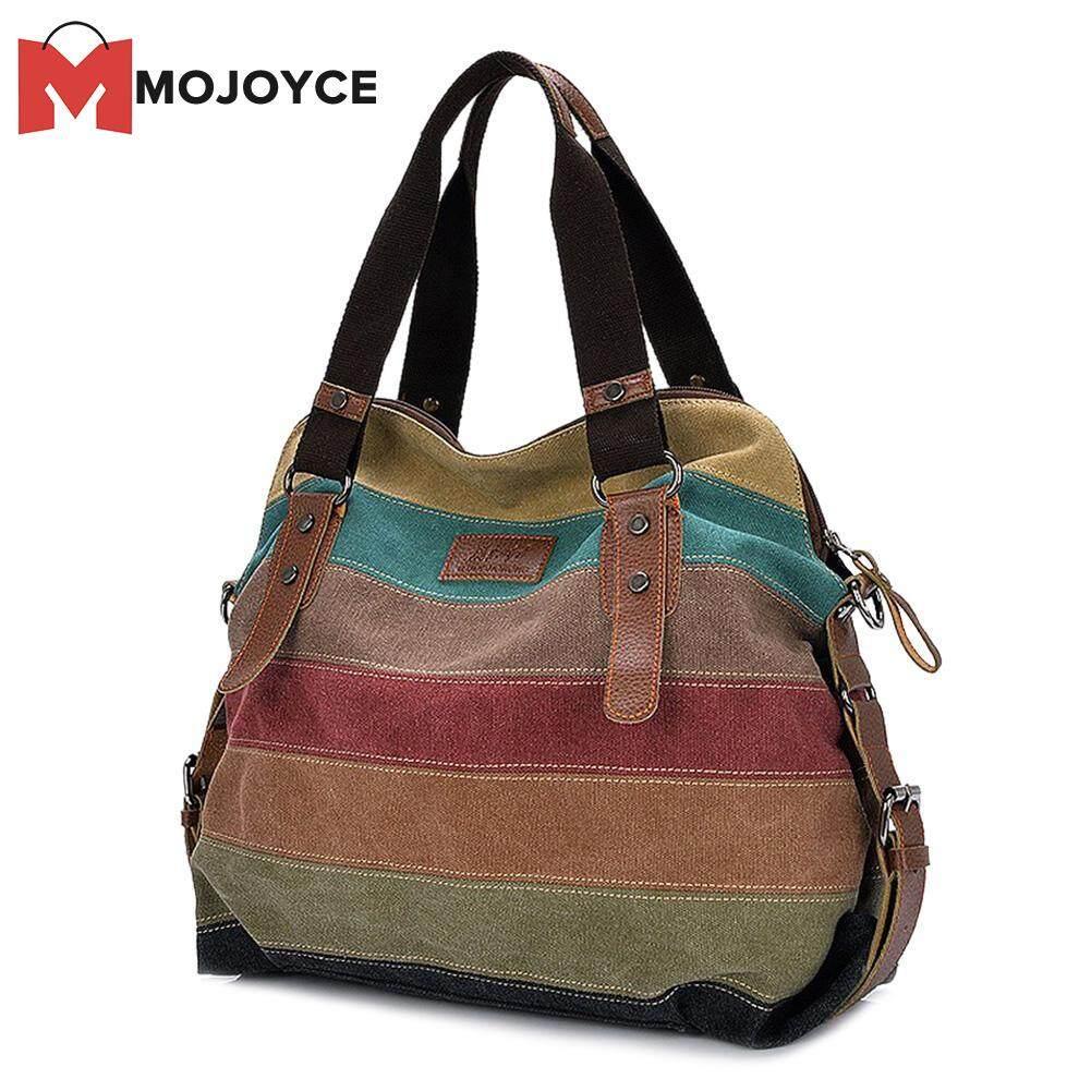 MOJOYCE Canvas Travel Daily Shoulder Handbag Women Large Capacity School Crossbody Bag
