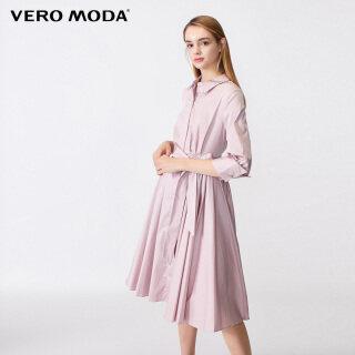 Vero Moda Đầm Nữ Tay 3 4 Thắt Eo Thắt Eo Cổ Bẻ 31937C519 thumbnail