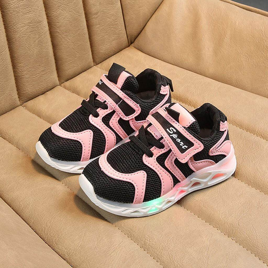Giá bán CocolMax Trẻ Em BabyGirls Bé Trai Chữ Đèn LED Dạ Quang Chạy Giày Sneaker Thể Thao