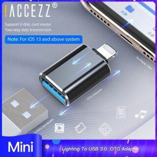 Hợp kim nhôm accezz để chiếu sáng Bộ chuyển đổi nam sang USB2.0 OTG cho iPhone 11 Pro Max 6 7 8 Plus Bộ chuyển đổi Phụ kiện điện thoại di động thumbnail