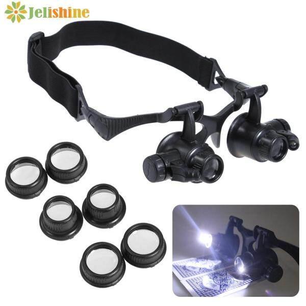 Giá bán Jelishine 10/15/20/25X Kính Lúp LED Lúp Thủy Tinh Hình Mắt Thợ Kim Hoàn Sửa Đồng Hồ