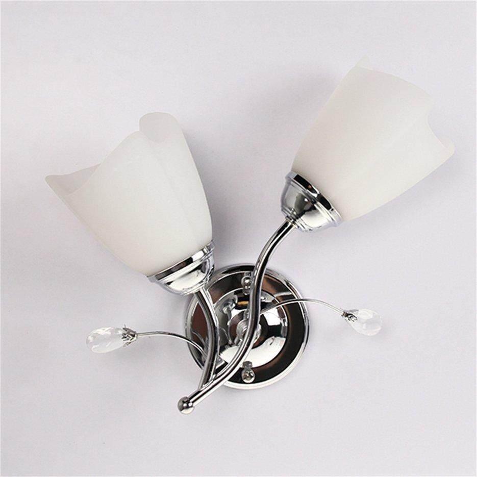 Hot Sellers Single/Double Head Wall Sconce Chrome Steel Glass Shape Light Corridor Lamp