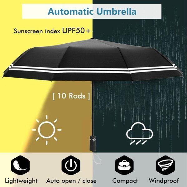 ♤  Automatic Umbrella UV50- Sunscreen 10Rod Windproof Auto Quick Operation Sturdy