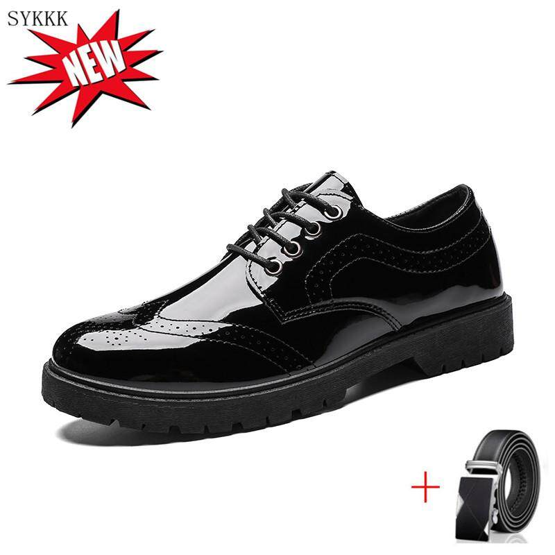 b6ccd8c1d72 SYKKK Men's Shoes Leather Soft Sole Shoes Men Summer Casual Shoes  Middle-Aged And Years