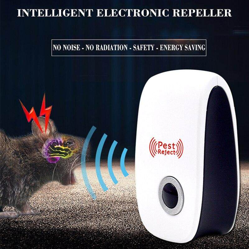 VEPOWER 2019 Upgraded Ultrasonic Electronic Repellent, Pest Control Repeller Plug in Indoor Usage, Best Pest Controller to Bugs, Insects Mice, Ants, Mosquitoes, Spiders, Rodents and Roach(2 Packs) image on snachetto.com