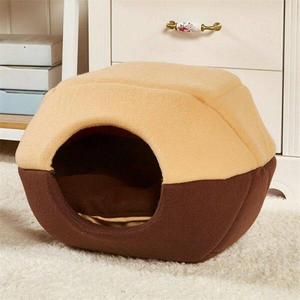 Đệm Sofa Cho Chó Con Báo Mùa Đông Nhà Cho Thú Cưng Giường Gấp Có Thảm Ổ Cũi Nhà Mềm Giường Cho Chó Mèo Cho Nhỏ Chó Trung Bình