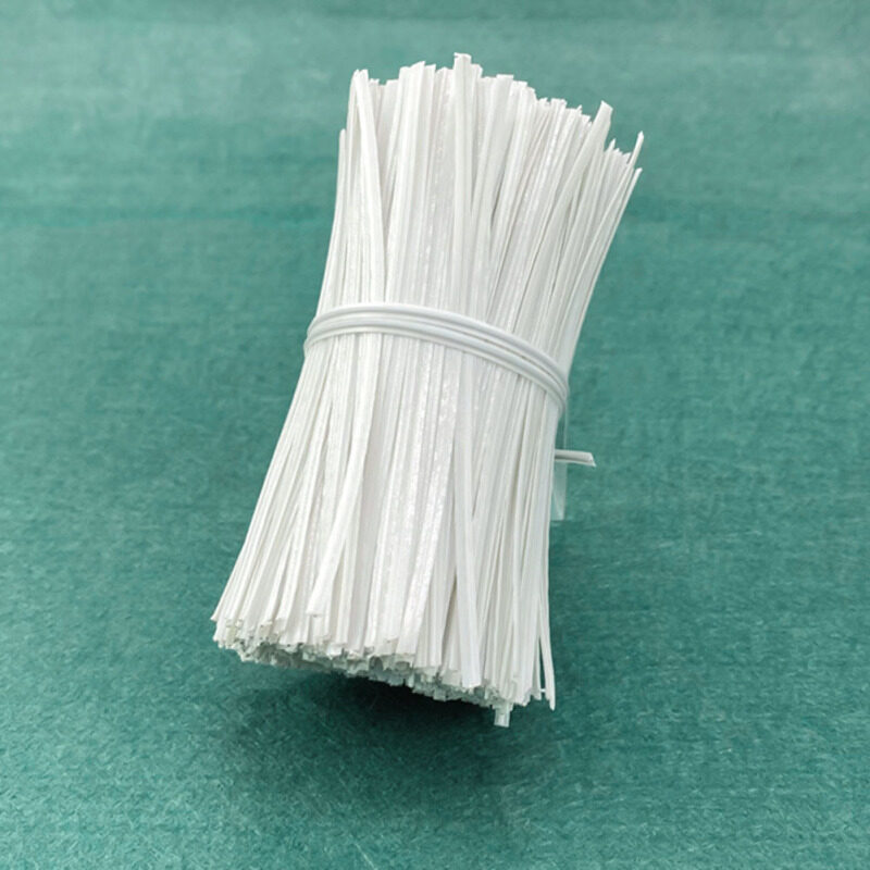 Dfhy4w75xfg 3MM Environmental Protection PE Single Core Galvanized Iron Wire Masks Nose Bridge Strip 10CM1000 Cable Ties