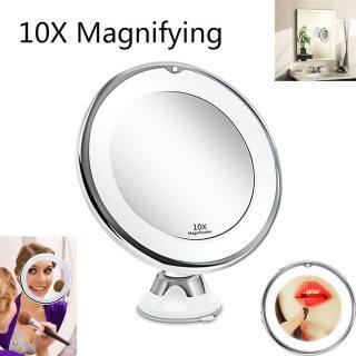 10X LED Gương Trang Điểm Gương Linh Hoạt Gương Gương Phóng Đại Trang Điểm Chiếu Sáng Với Ánh Sáng Gương Phòng Tắm Miroir Trang Điểm thumbnail
