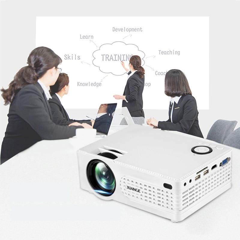 US-plug LED Portable Projector 2200LM Mini Projector Home Media Player AV/VGA/USV/SD/HDMI/Micro USB white color