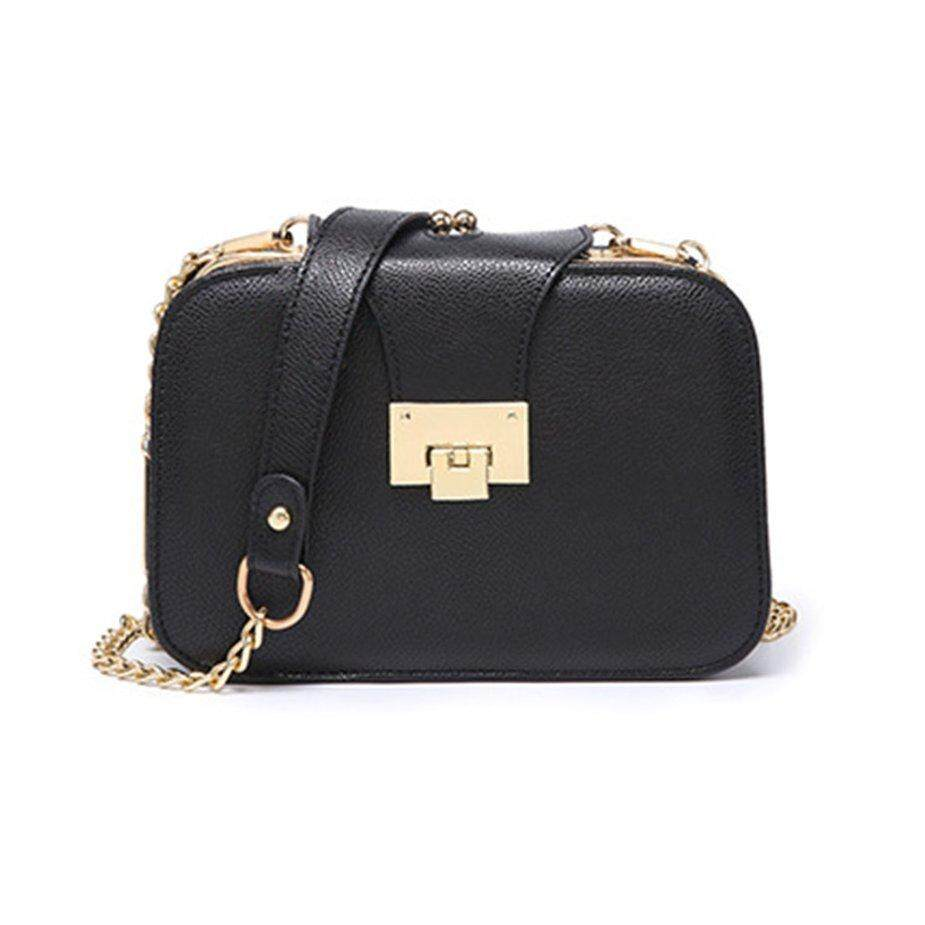 Hot Sale Trendy Design Metal Chain Women Leather Handbags Wedding Single Shoulder Bag