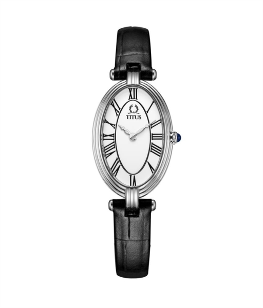 Solvil et Titus W06-03207-001 Womens Quartz Analogue Watch in White Dial and Leather Strap Malaysia