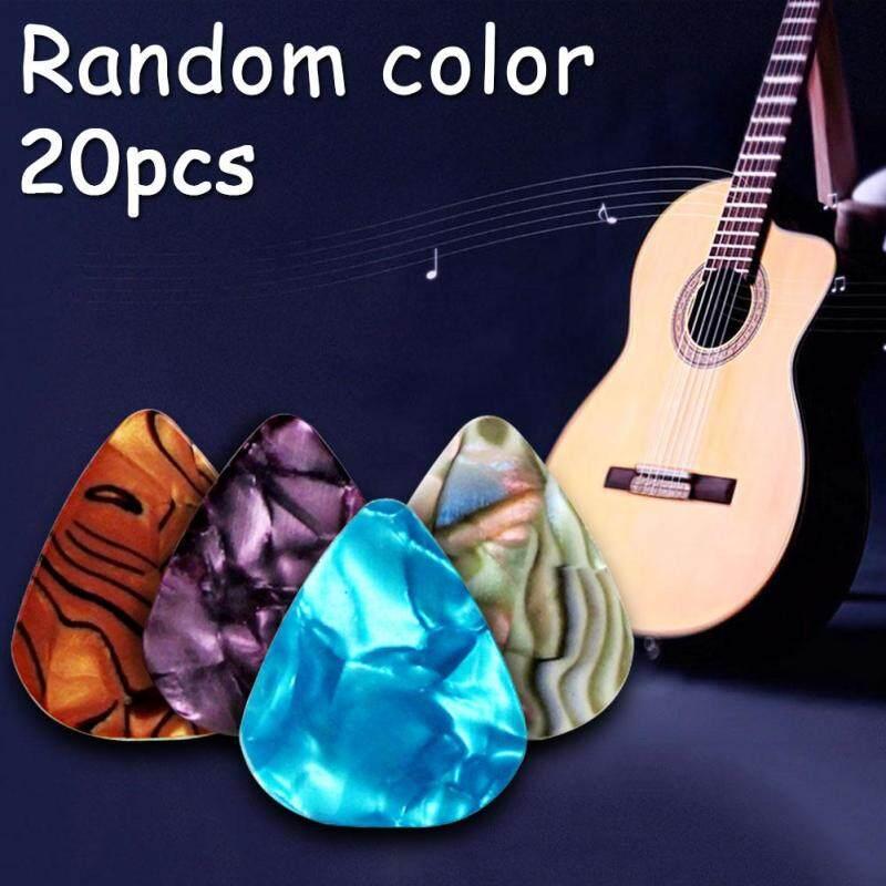 20pcs Acoustic Bulk Guitar Pick Picks Plectrum Celluloid Electric Smooth 0.46mm Malaysia