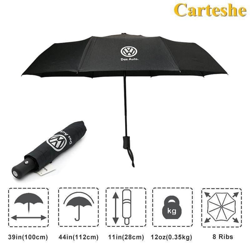 1 piece VW Volkswagen Auto Sport Automatic Open Folding Umbrella Windproof Sunshade