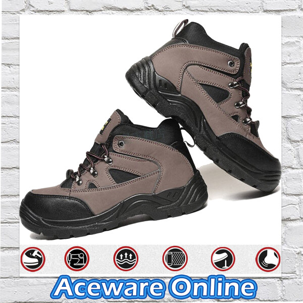 SIZE [39-45] BREATHABLE SAFETY SHOES ANTI-SLIP ANTI-SMASHING ANTI-PIERCING OIL RESISTANT WORK SHOES FOR MEN