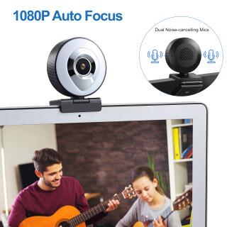 Máy Ảnh Web, Webcam Video Mic Tự Động Lấy Nét HD 1080P Có Đèn LED Lấp Đầy Để Phát Trực Tiếp thumbnail