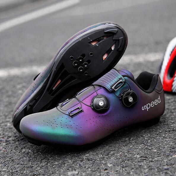 Đi Xe Đạp Giày Sneakers Giày Đạp Xe Đường Trường Tự Khóa Siêu Nhẹ Thoáng Khí Cho Nam, Giày Đua Xe Đạp Đường Trường giá rẻ