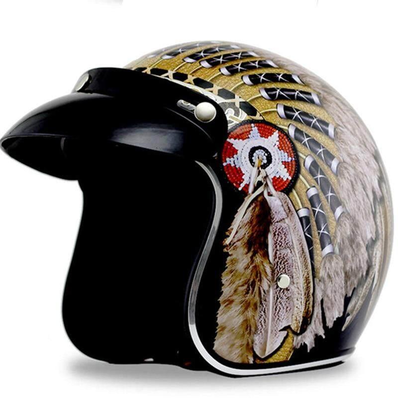 Envío Gratis indio Harley cascos 3/4 motocicleta helicóptero casco de bicicleta de la cara abierta vintage casco de la motocicleta con el sol ala