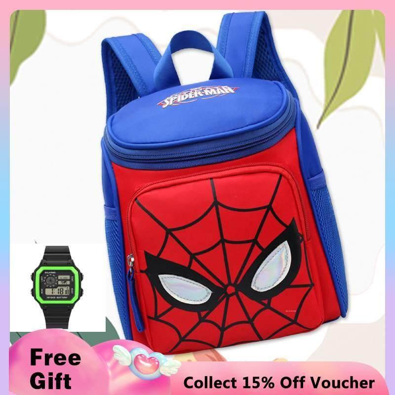 【】แฟชั่นน่ารักการ์ตูน Spider Man อนุบาลกระเป๋านักเรียนเด็กเด็กกระเป๋าเป้สะพายหลัง แนะนำ ยี่ห้อไหนดี