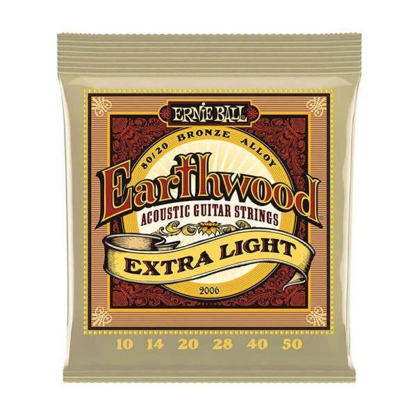 Ernie Ball 2006 Earthwood Extra Light Guitar Acoustic 10-50 Bộ Phận Nhạc Cụ