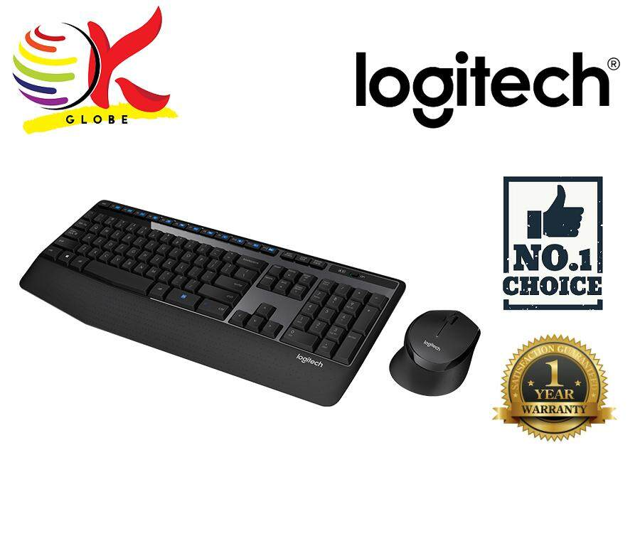 LOGITECH WIRELESS COMBO MK345 THE POWERFUL COMBO WITH EXTRA LONG LIFE BATTERY PALM REST ADJUSTABLE KEYBOARD HEIGHT SPILL RESISTANT DESIGN Malaysia