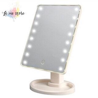 [La Vis] Gương Trang Điểm Xoay 360 Độ Điều Chỉnh 16 22 Đèn LED Thắp Sáng Dẫn Màn Hình Gương Mỹ Phẩm Phát Sáng Cầm Tay thumbnail
