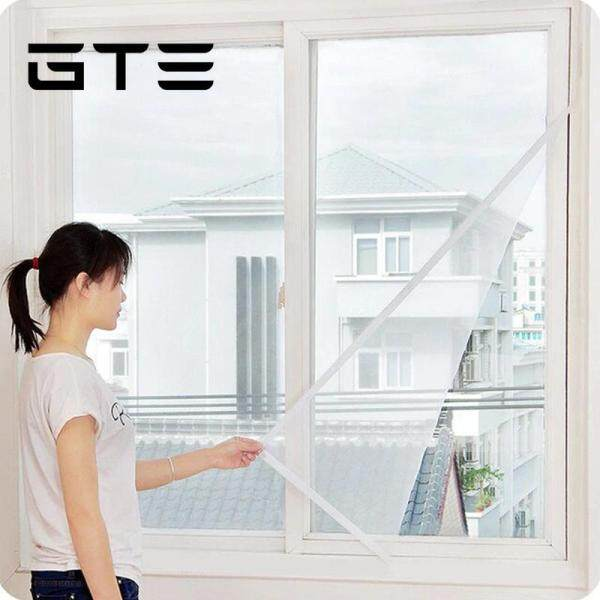 GTE 2 Pcs DIY Self Adhesive Mosquito Window Screens With Sticky Tape Anti Mosquito Window Screen - Fulfilled By GTE SHOP