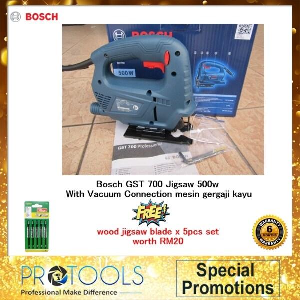 Bosch GST700 Jigsaw 500Watt + Extra 5pcs wood blade / 5PCS bosch wood blade/ T118A METAL BLADE  - 6 MONTH WARRANTY