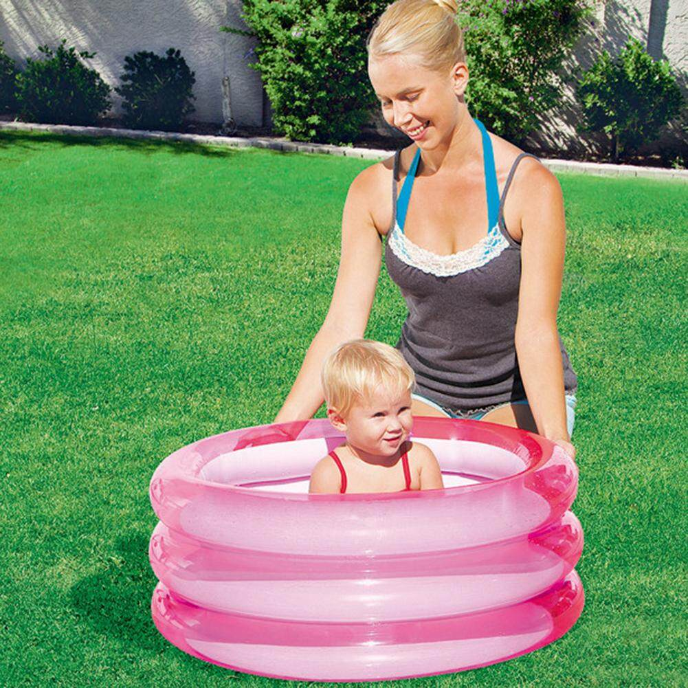 [BXH SHOP] Baby Inflatable Swimming Pool Kids Toy Round Paddling Pool Ocean Ball Pools