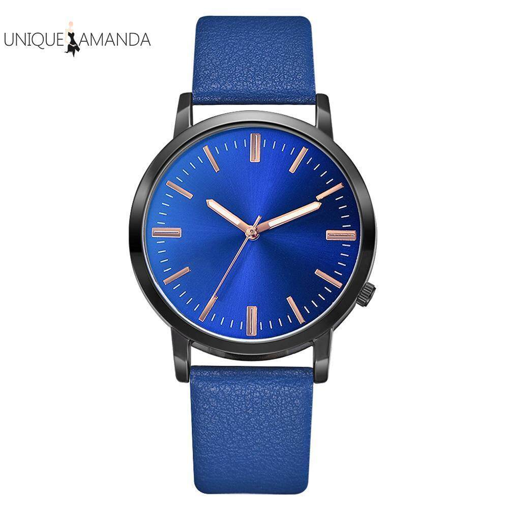 [UNIQUE AMANDA] Men Business Watch PU Leather Strap Fashion Casual Analog Quartz Wristwatch Malaysia