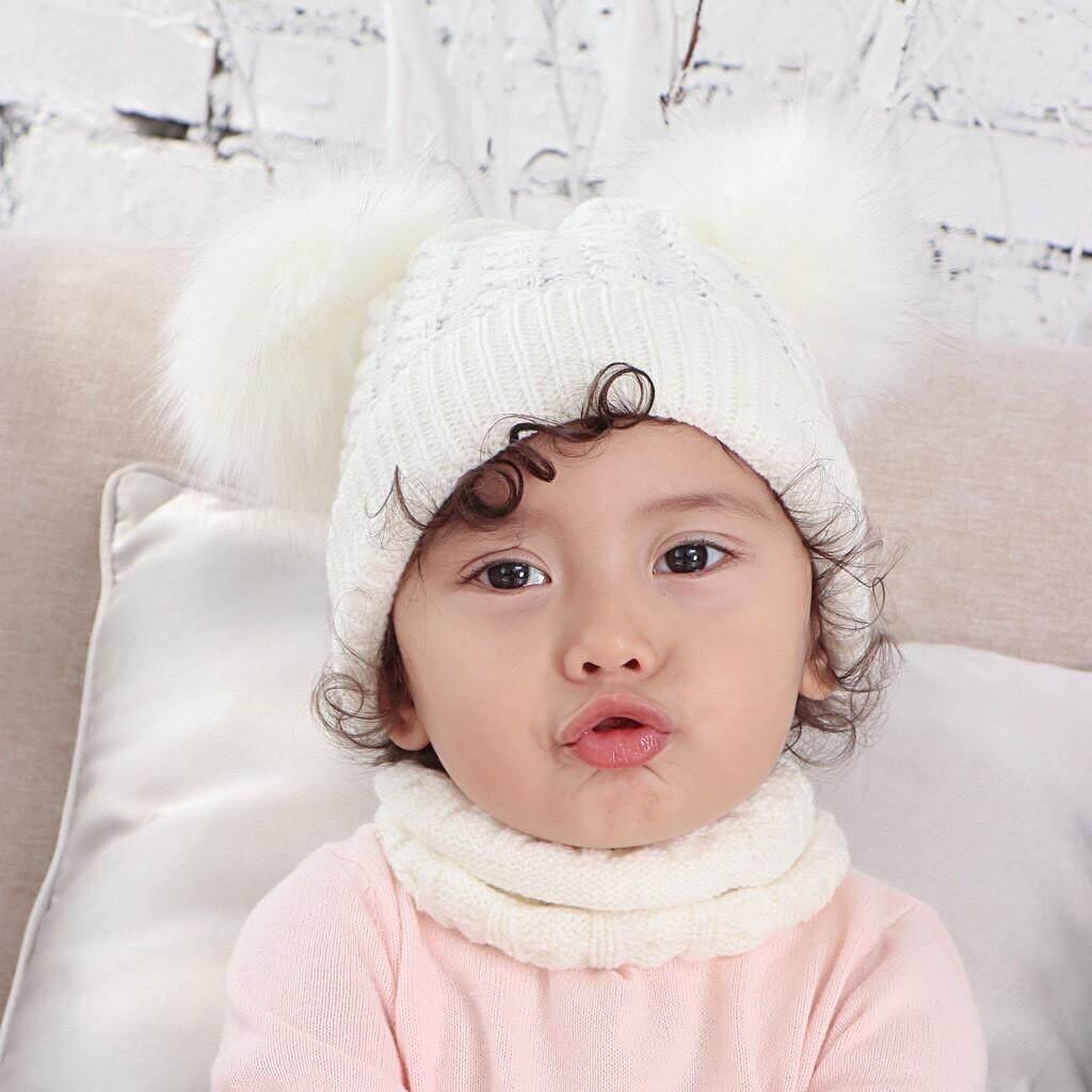 Mom Toddler Kid Girl/&Boy Baby Infant Winter Warm Crochet Knit Hat Beanie Cap Pom