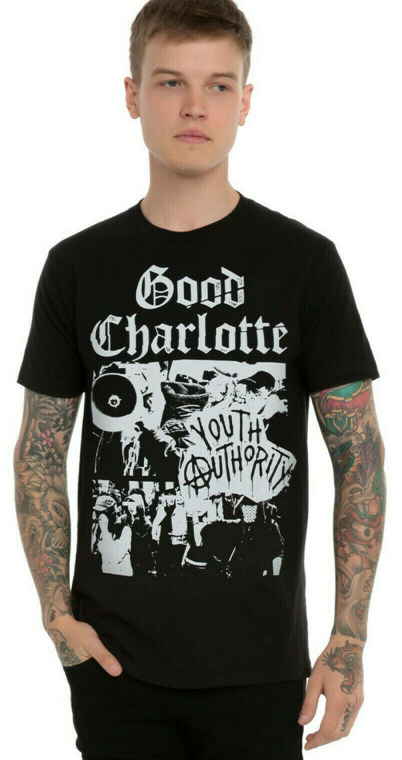 Official Good Charlotte Crest T-Shirt Youth Authority Good Morning Revival