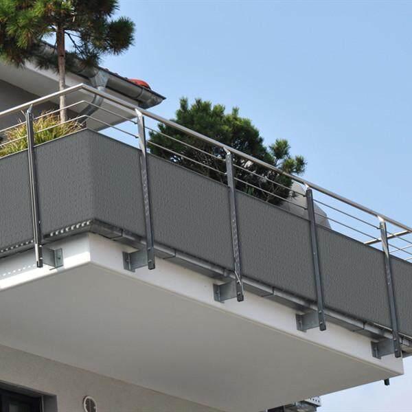 Privacy Screen Fence Mesh Windscreen for Backyard Deck Patio Balcony Pool Porch Railing Grey