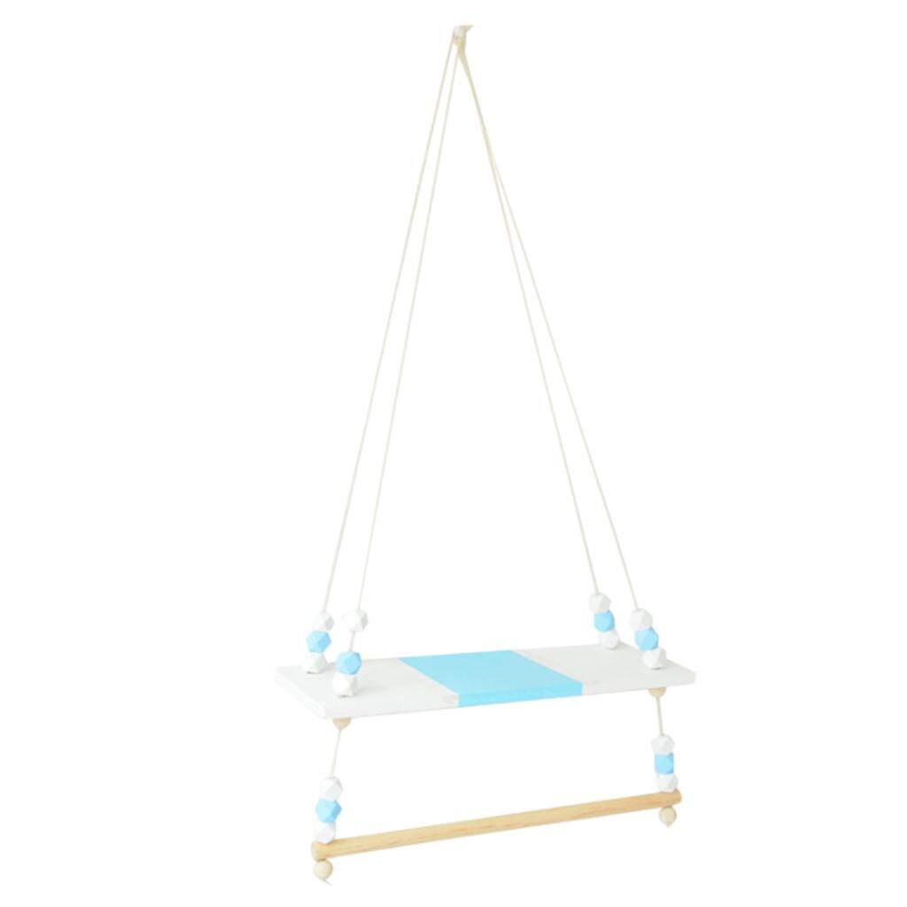 BolehDeals Wooden Handicraft Pine Single-layer Partition Shelf + Clothes Hanger