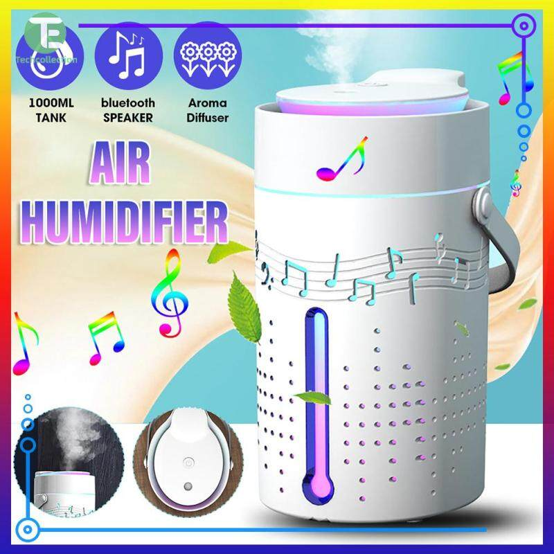 【Techcollection】1000ml Aromatherapy Car Humidifier Mist Maker Essential Oil Diffuser with Bluetooth Speaker Singapore
