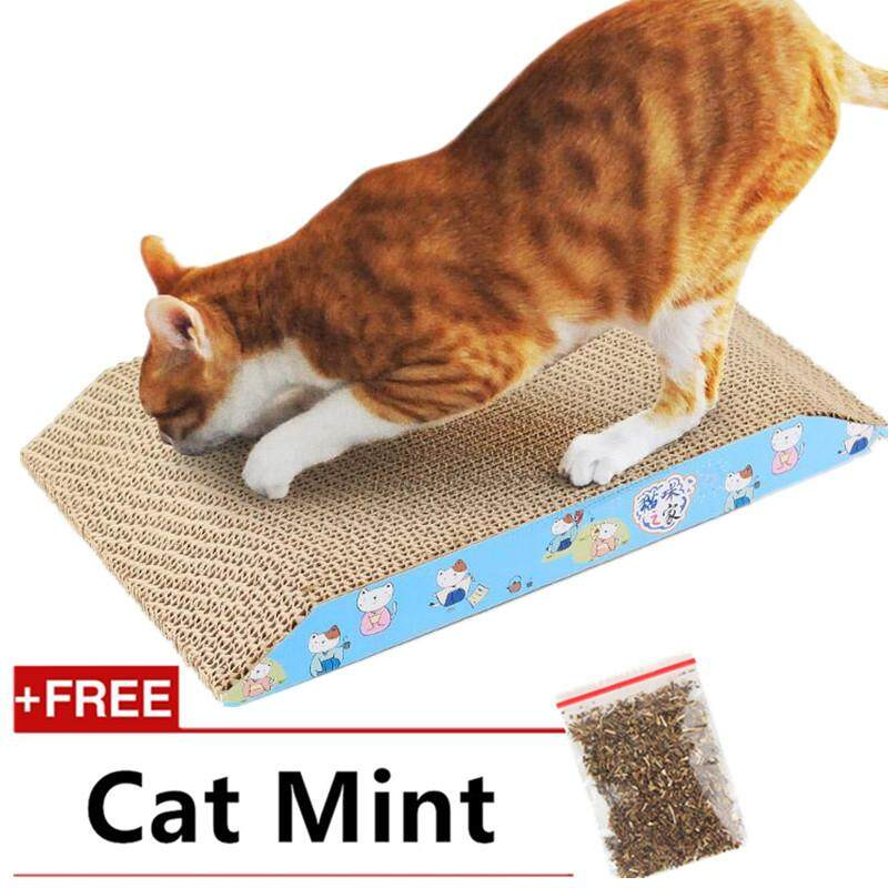 Cat Bed Big Cat Scratcher Lounge Cardboard Paper Scratching Pad Pet Cat Play House Grinding Claws Device Cat Beds & Mats Home & Garden