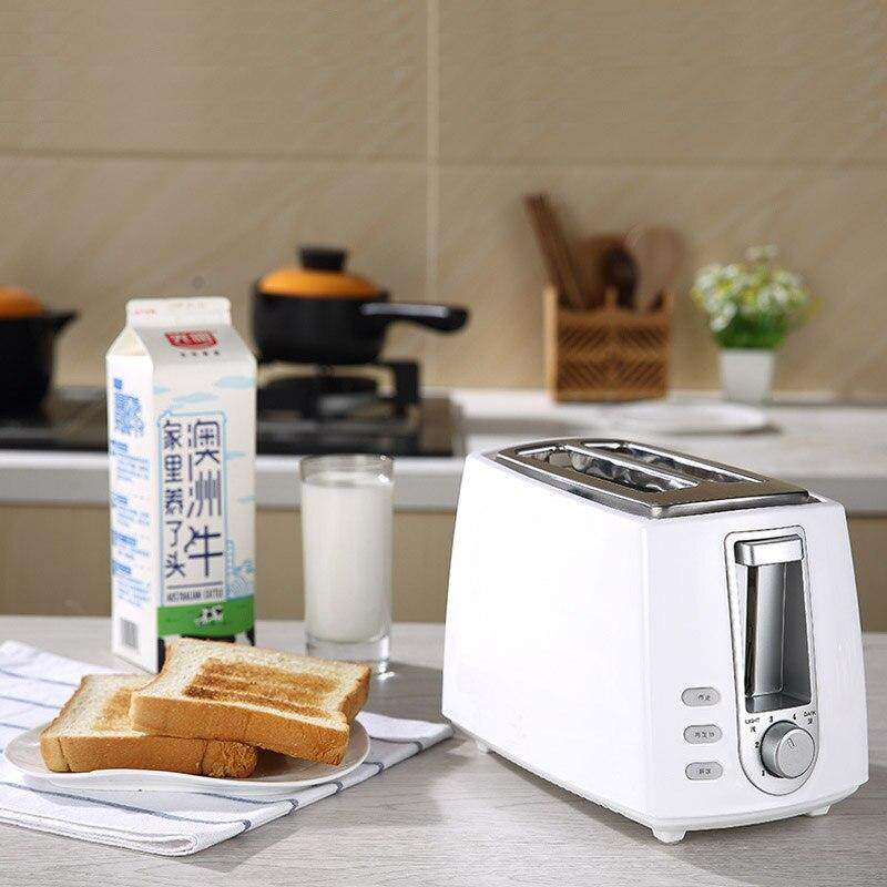 2pcs bread mini desktop breakfast toaster pink and white color smile pattern toaster—(1 set)