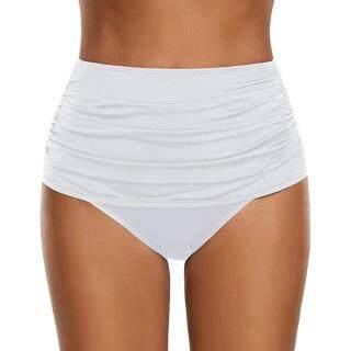Auburyshop Đồ Bơi Nữ Bikini Xếp Nếp Cạp Cao Cho Nữ Đồ Bơi Tankini Quần Lót Vải Chất Lượng Cao, Đẹp, Gợi Cảm, Sẵn Sàng Vận Chuyển, Phong Cách Hàn Quốc, Quần Bơi Ba Điểm, Quần Bơi Bãi Biển thumbnail