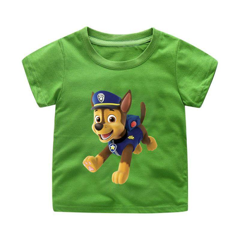 0745368c14002 Paw Patrol Tees Kids T-Shirt Boys Cotton T Shirt Fashion Cartoon Game  Tshirts Girls