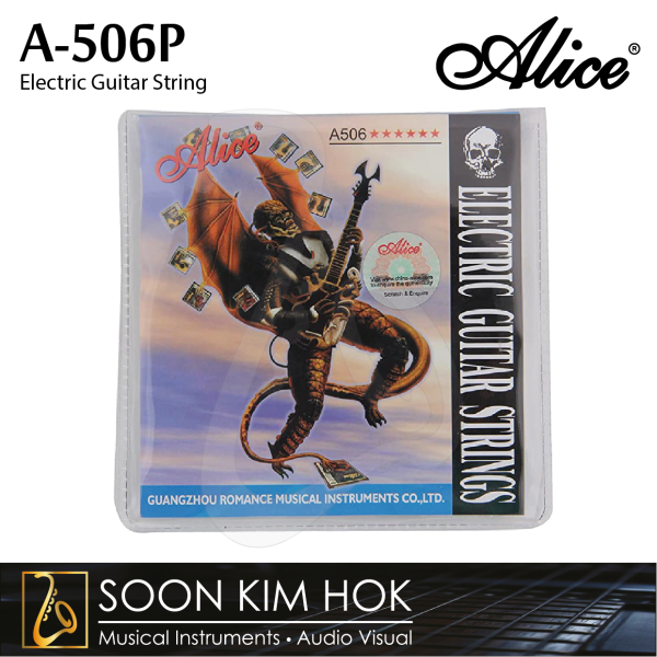 ALICE A-506P Electric Guitar String 009 (.010 / .013 / .017 / .026 / .036 / .046) (A506P) Malaysia