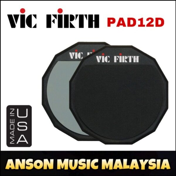 Vic Firth PAD12D Double Sided Practice Pad, 12-Inch Malaysia